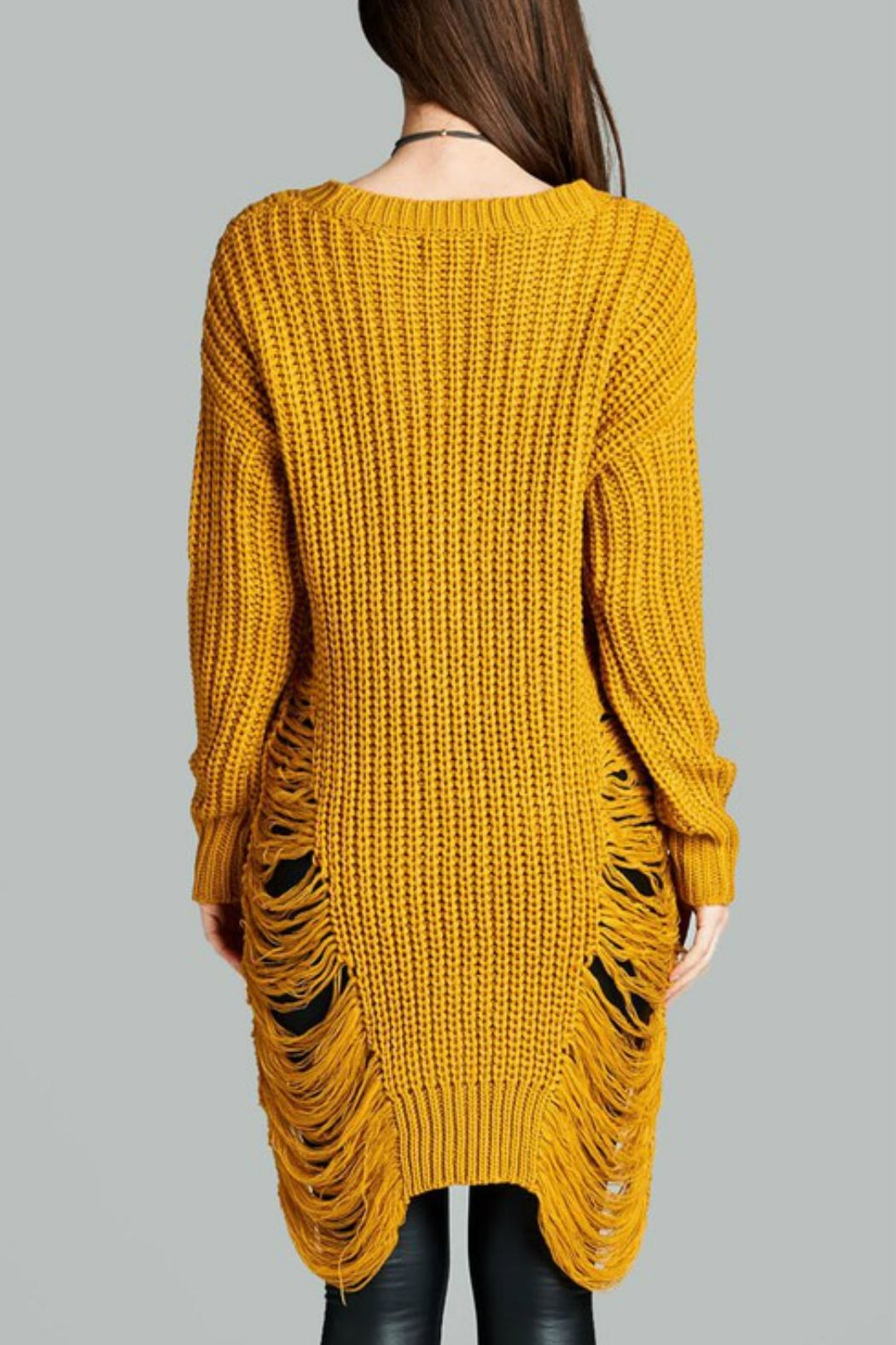 Minx Mustard Sweater Dress - Side Cropped Image