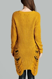 Minx Mustard Sweater Dress - Side cropped