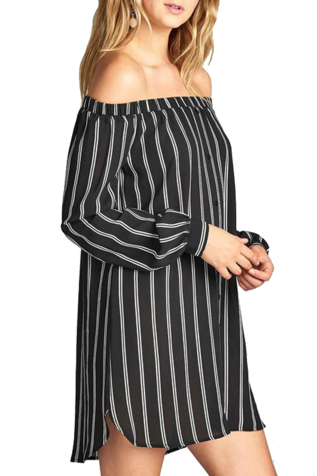 Minx Off Shoulder Dress - Side Cropped Image