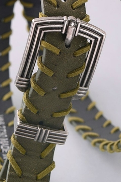 Minx Olive Stitch Belt - Alternate List Image
