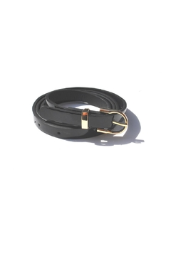 Shoptiques Product: Black Leather Skinny Belt