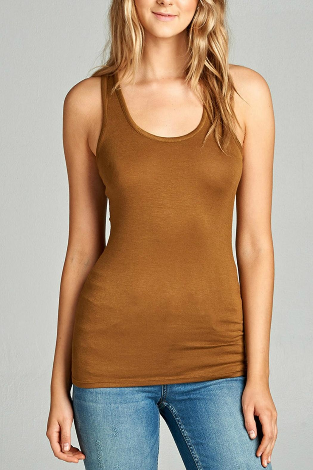 Minx Casual Racerback Tank - Front Cropped Image