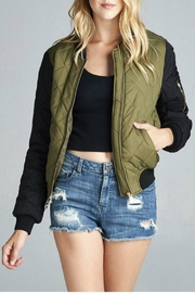 Minx Quilted Bomber Jacket - Product Mini Image