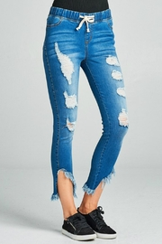 Minx Raw Hem Jeggings - Front full body