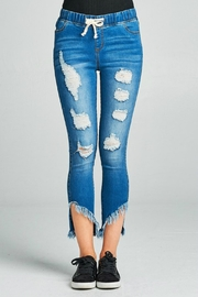 Minx Raw Hem Jeggings - Front cropped