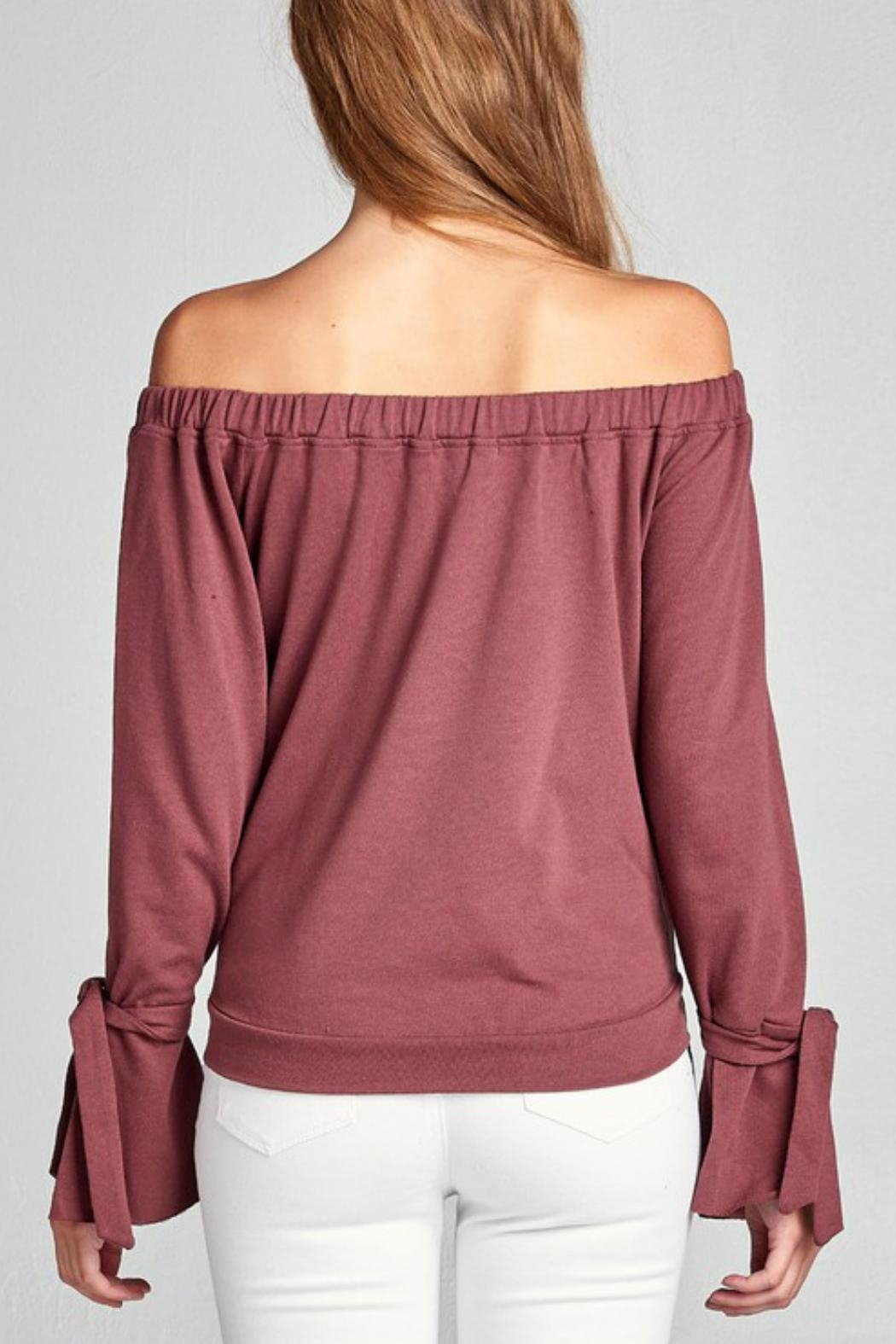 Minx Red Bean Sweater - Back Cropped Image