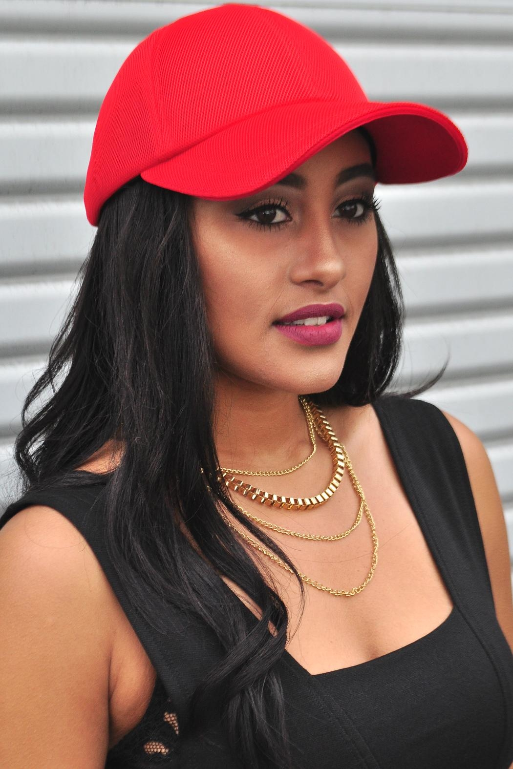 Minx Red Mesh Cap - Front Cropped Image