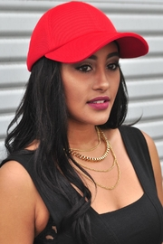 Minx Red Mesh Cap - Front cropped