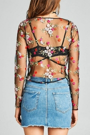 Minx Sheer Floral Blouse - Side cropped