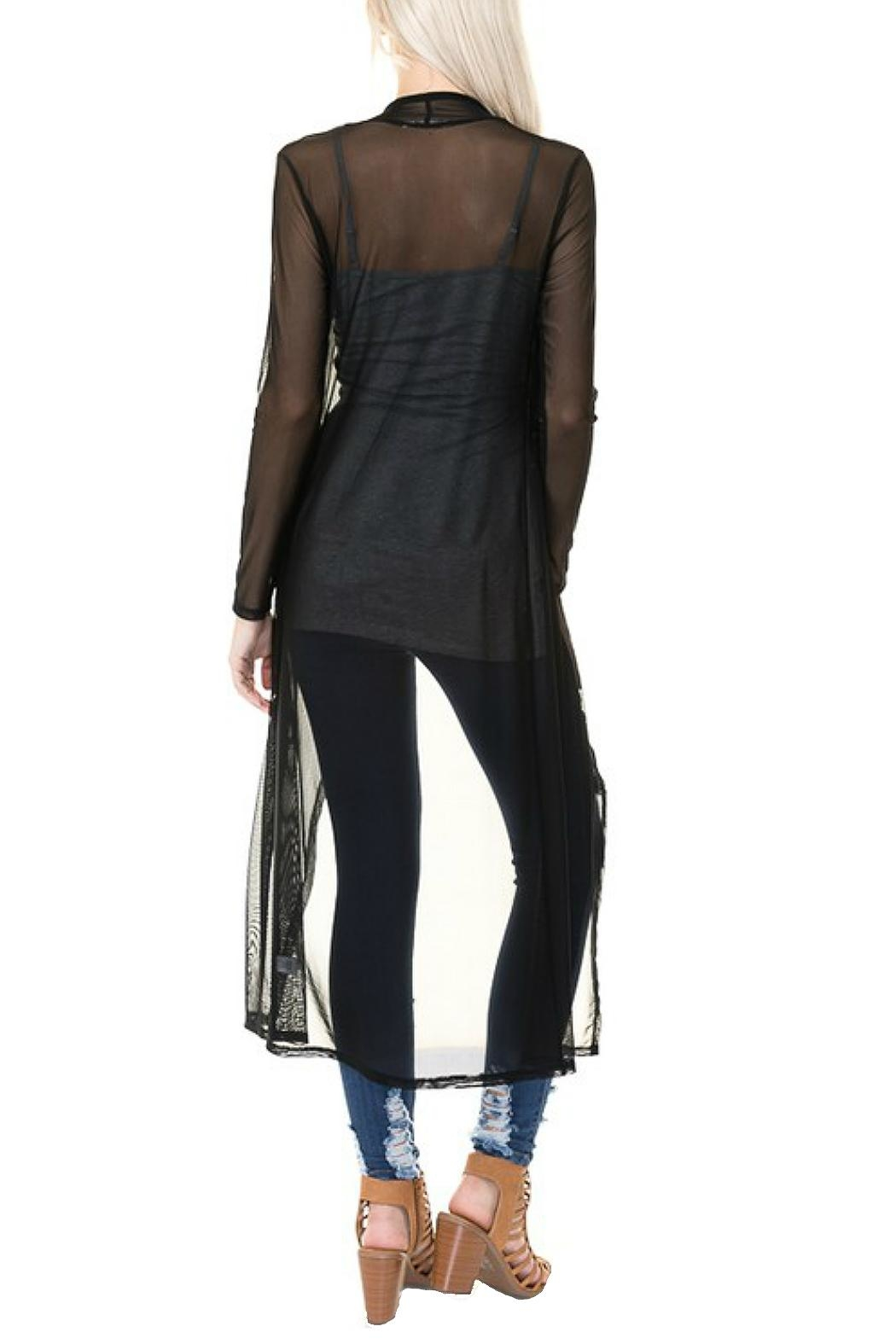 Minx Sheer Mesh Duster - Back Cropped Image