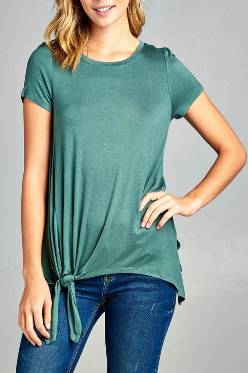 Minx Side Tie Tee - Front Cropped Image