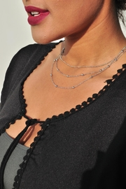 Minx Layered Silver Necklace - Product Mini Image