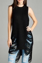 Minx Sleeveless Shredder Sweater - Product Mini Image