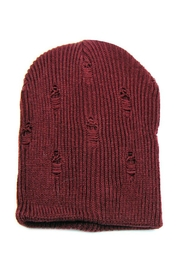 Minx Slouch Distressed Beanie - Product Mini Image