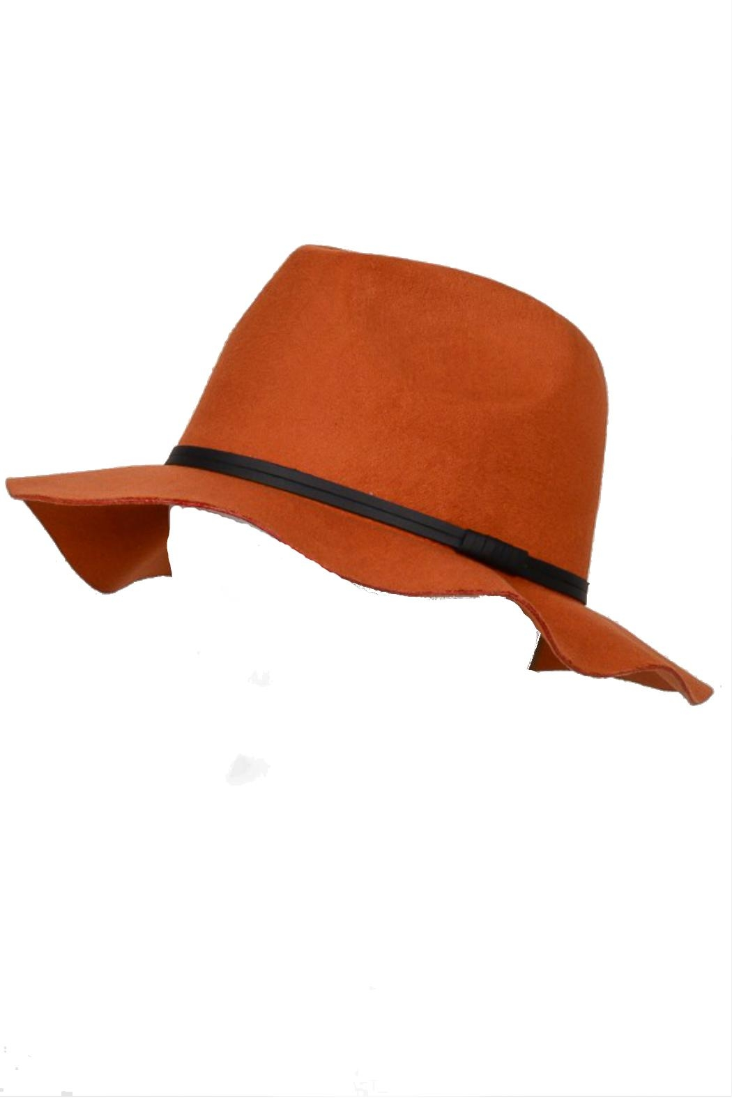 Minx Structured Rust Hat - Front Full Image