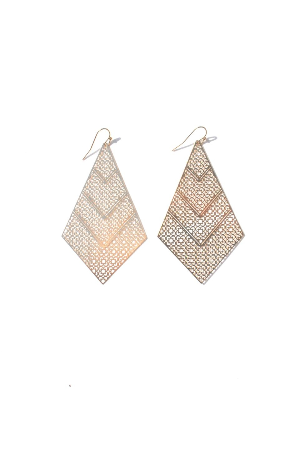 Minx Talia Filigree Earring - Front Cropped Image