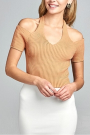 Minx Apricot Ribbed Top - Product Mini Image