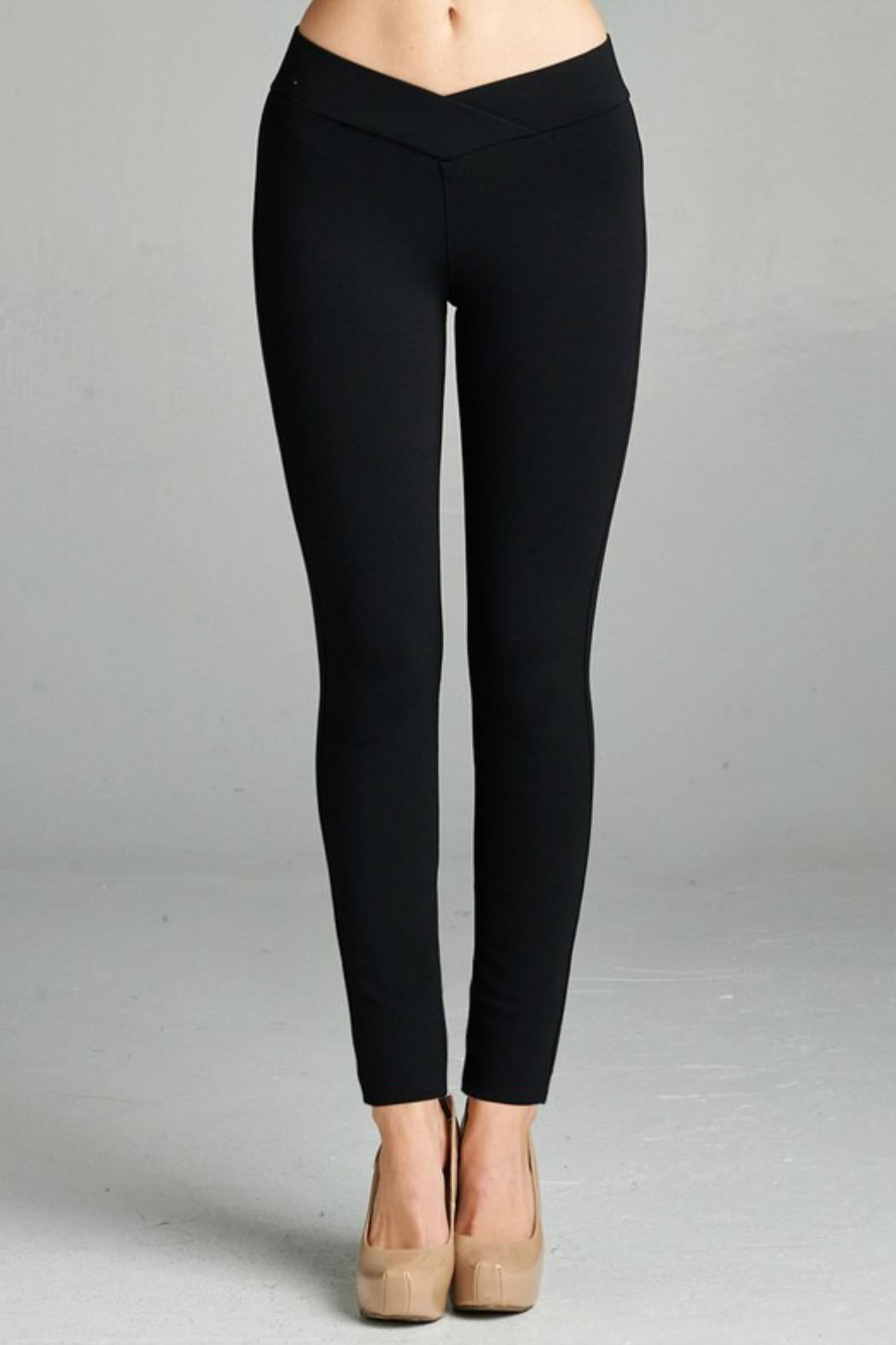 Minx Thick Ponte Pants - Front Cropped Image