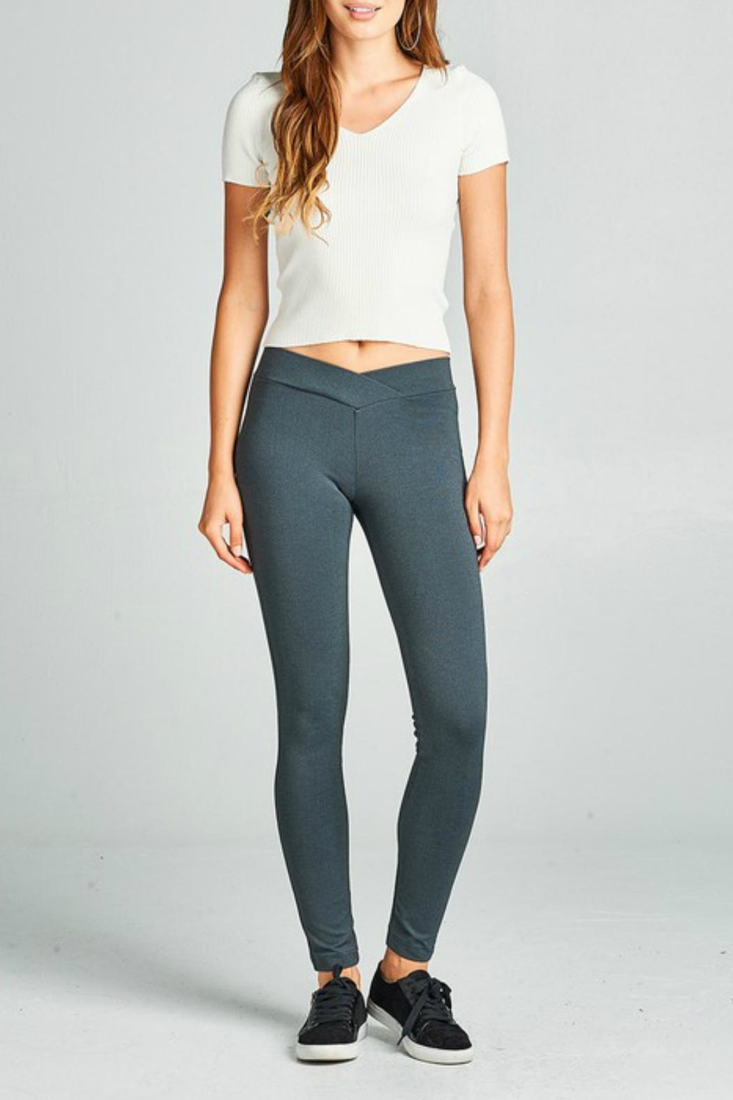 Minx Thick Ponte Pants - Front Full Image