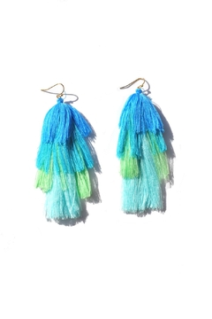 Shoptiques Product: Tiered Fringe Earrings