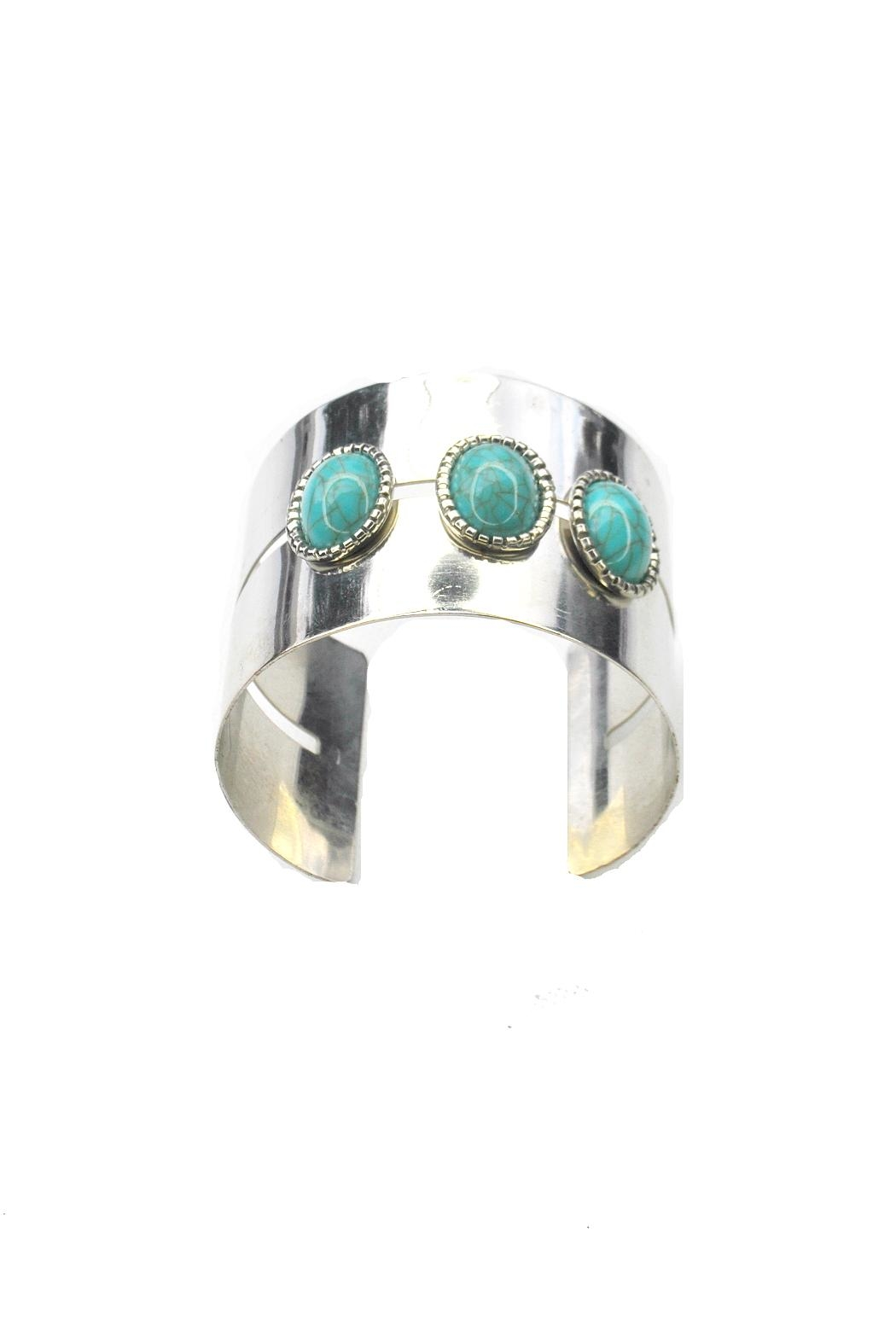 Minx Turquoise Cuff Bracelet - Front Cropped Image