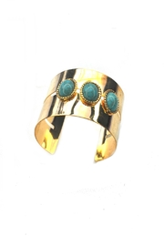 Minx Turquoise Cuff Bracelet - Front cropped