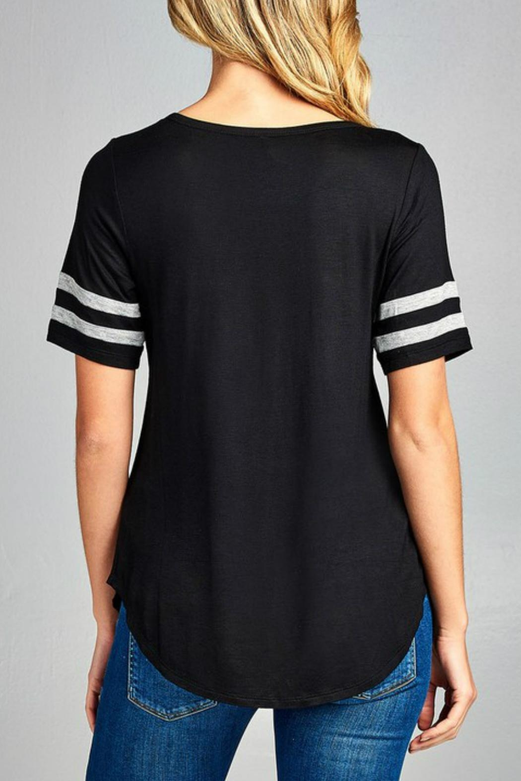 Minx Two Striped Tee - Front Full Image