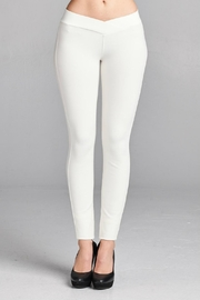 Minx White Ponte Pants - Product Mini Image