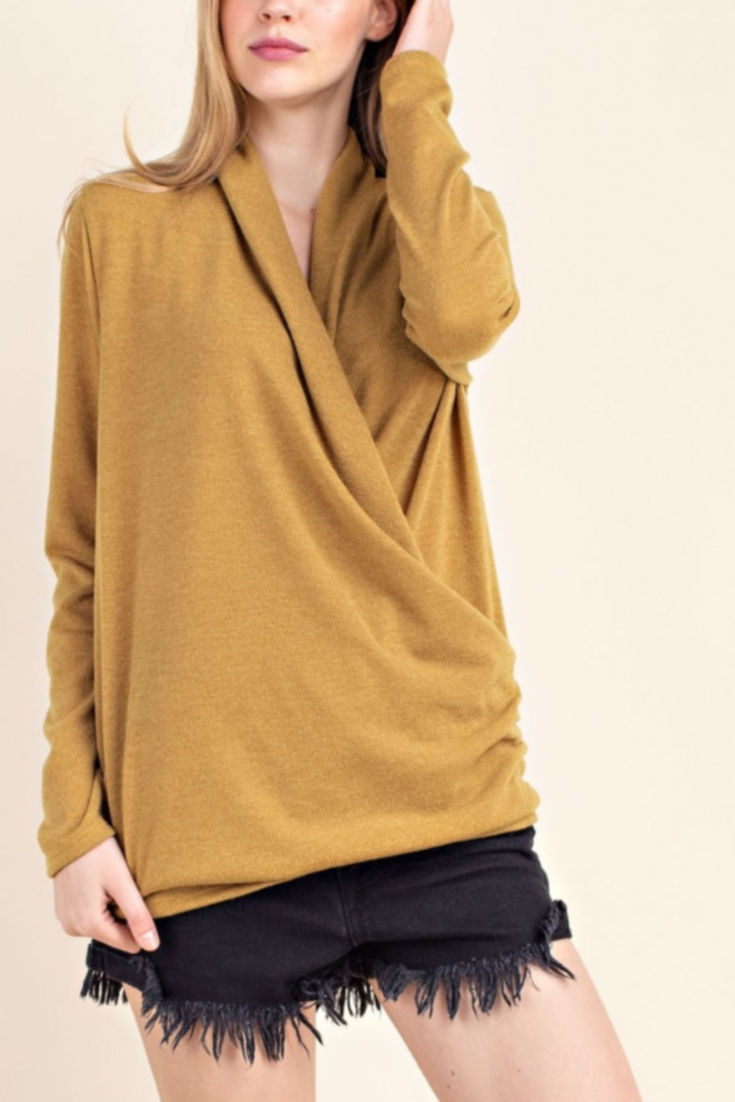Mittoshop Mir Knitt Faux Wrap Sweater - Main Image