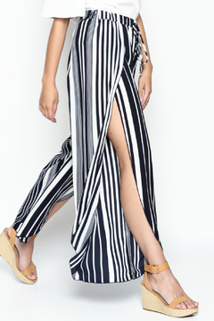 Shoptiques Product: Striped Wrap Front Pants