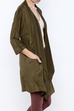 Miracle Berry Faux Suede Waterfall Jacket - Product List Image