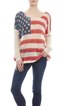 Miracle City American Flag Sweater - Product List Image