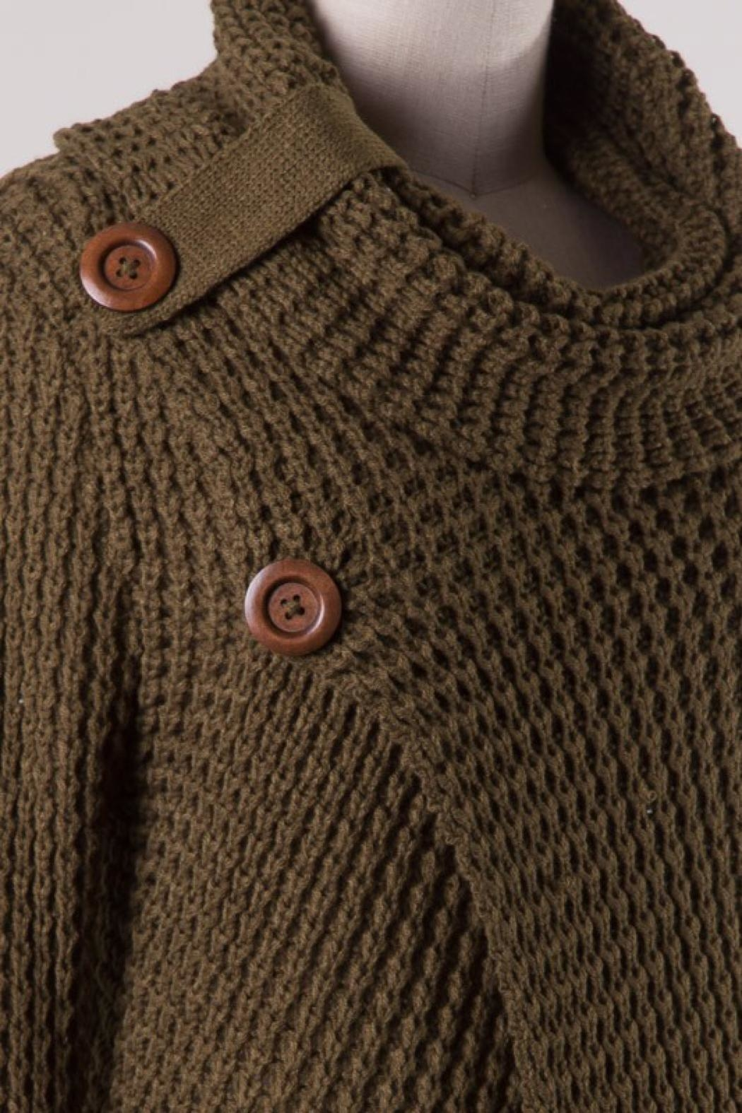 Miracle Cowl Neck Sweater - Back Cropped Image