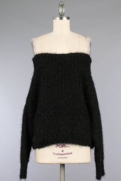 Miracle Fuzzy Black Off-Shoulder - Product List Image