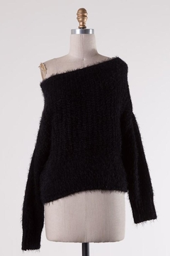 Miracle Fuzzy Black Off-Shoulder - Alternate List Image