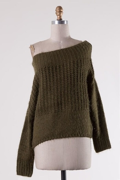 Miracle Fuzzy Olive Off-Shoulder - Alternate List Image