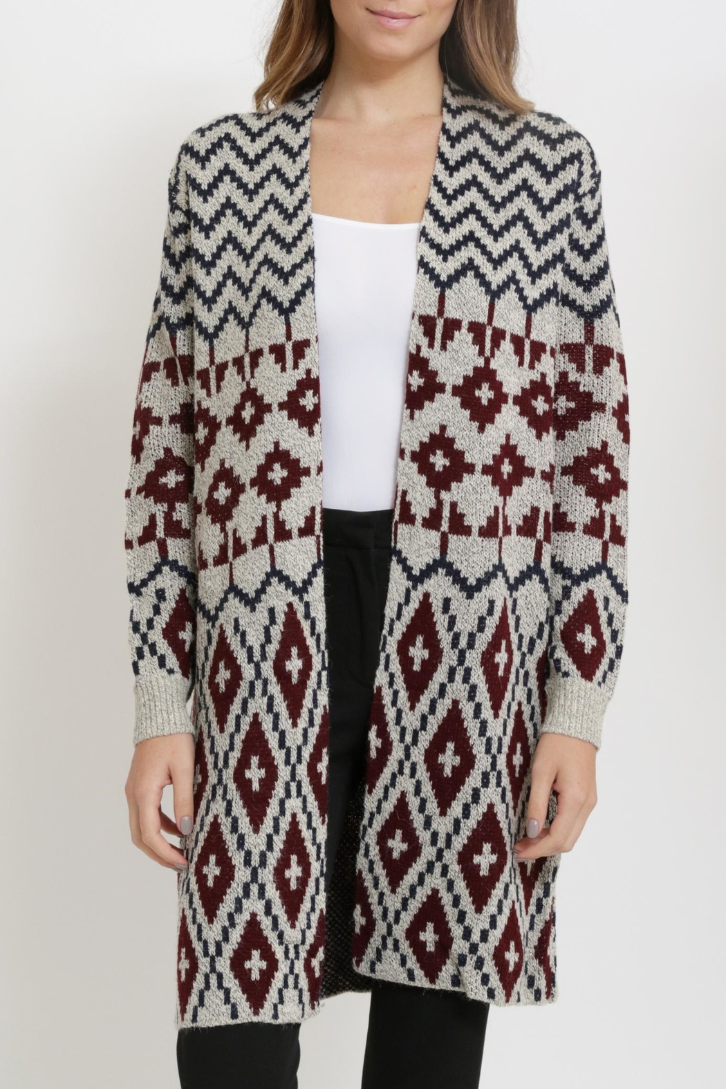 Miracle Long Cardigan Sweater - Side Cropped Image