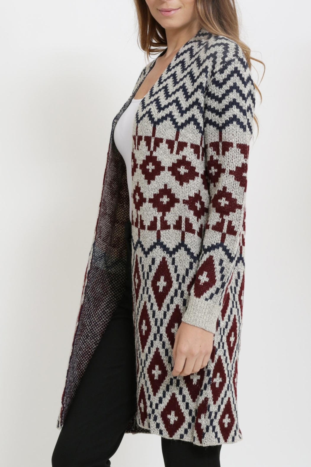 Miracle Long Cardigan Sweater - Back Cropped Image