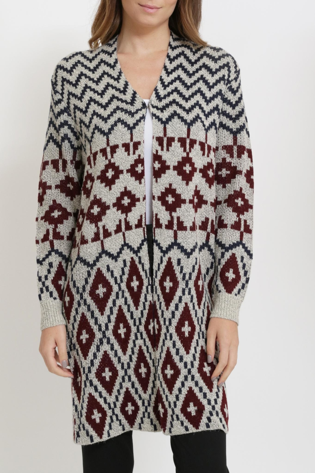 Miracle Long Cardigan Sweater - Front Full Image