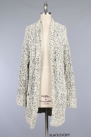 Miracle Pocket Cardigan Black/ivory - Front cropped