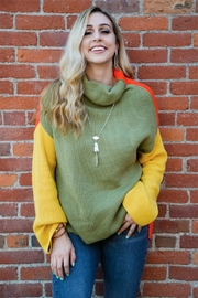 Miracle Three Block Sweater - Back cropped