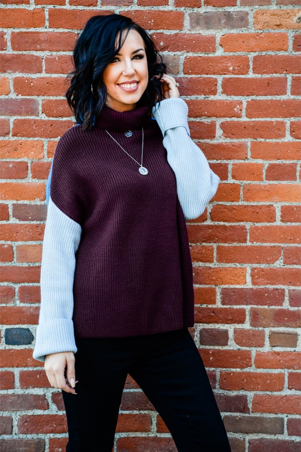 Miracle Three Block Sweater - Front Cropped Image