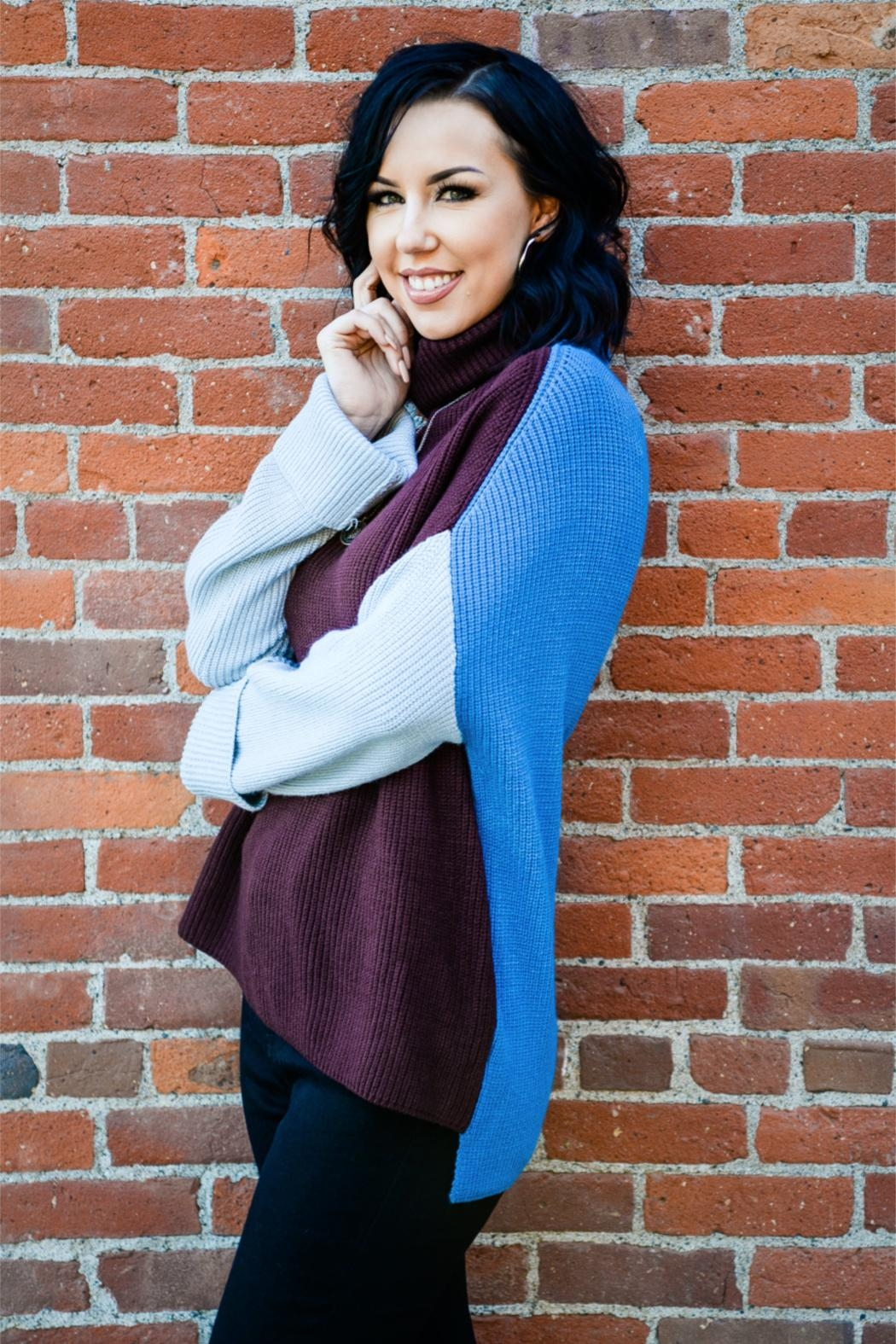 Miracle Three Block Sweater - Front Full Image