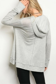 Miracle Berry Gray Tunic - Front full body