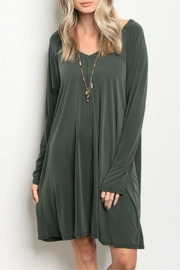 Miracle Berry Olive Tunic Dress - Product Mini Image