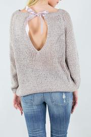 Miracle USA Knit Ribbon Rose Sweater - Side cropped