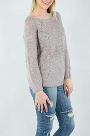 Miracle USA Knit Ribbon Rose Sweater - Front full body