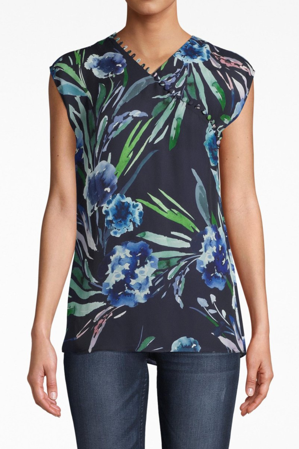 Nicole Miller Mirage Button-Loop Blouse - Main Image