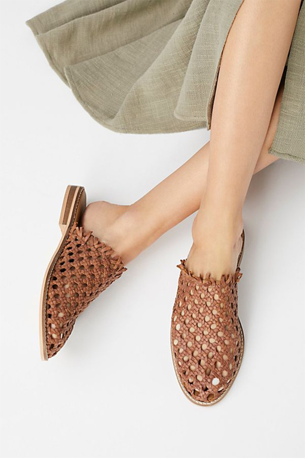 Free People Mirage Woven Flat - Front Cropped Image