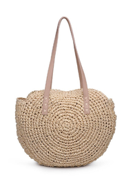 Urban Expressions Miranda Straw Circle Tote - Product Mini Image